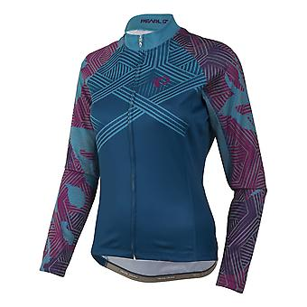 Pearl Izumi Floral Moroccan Blue Elite Thermal LTD Womens Long Sleeved Cycling J
