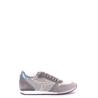 Mizuno Grey Suede Sneakers