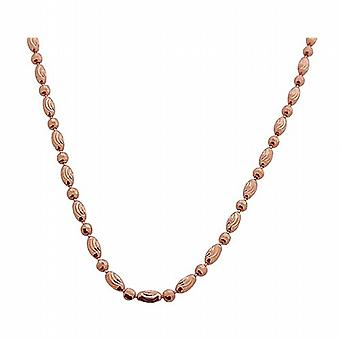 TOC Rose-goldtone Sterling Silver Fancy Link Necklace Chain 24