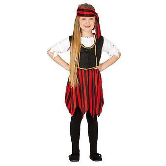 Mädchen Sassy Pirate Fancy Dress Kostüm