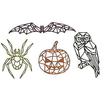 Sizzix Thinlits Die Set Geo Halloween Set of 4 by Tim Holtz