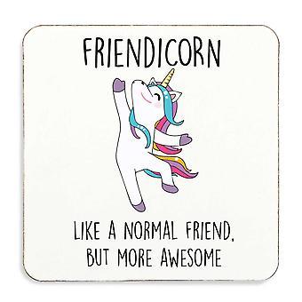 Friendicorn Friend Unicorn Coaster Cork Back