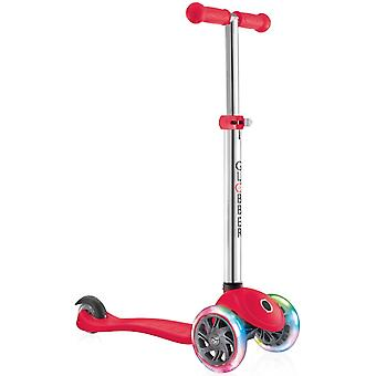 Globber Primo Lights Kids Scooter - Primo Scooter - 3 Wheel Scooter - Red