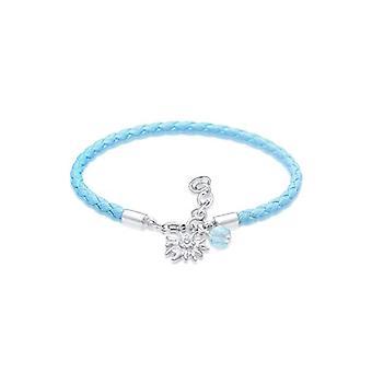 Elli Woman 925 Silver Round Blue Crystal