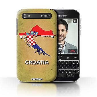 STUFF4 Case/Cover for Blackberry Classic/Q20/Croatia/Croatian/Flag Nations