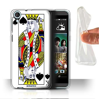 STUFF4 Gel/TPU Case/Cover for HTC Desire 820s Dual/King of Spades/Playing Cards