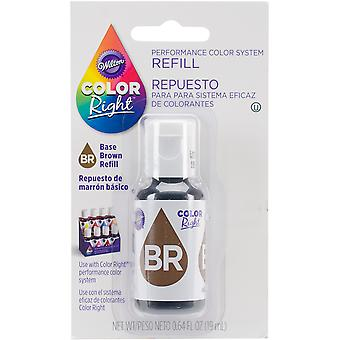 Color Right Food Color System Refill .7oz-Brown CR610-954