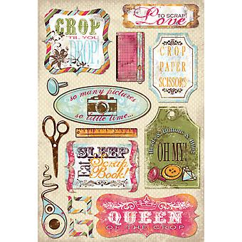 Scrapbooking papier cartonné autocollants 5,5 « X 9 » Love To Scrap Kf10905