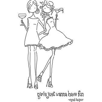 Stamping Bella Unmounted Rubber Stamp Uptown Girls Vicotria And Juliette Ll134