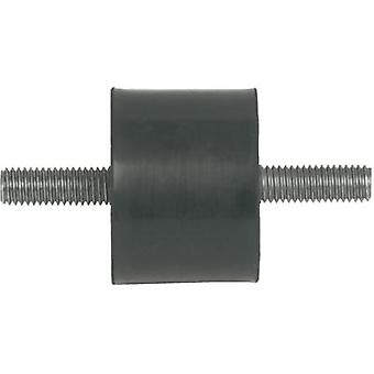 PB Fastener 110004 Threaded Buffer Outer-/outer thread Black