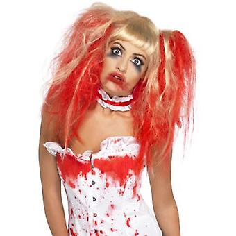 Smiffys Blood Drip Wig Blonde With Bunches & Blood Drip Effect (Kostüme)