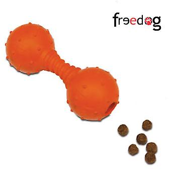 Freedog Feeder Prize Weight para perros color naranja