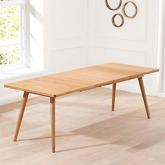 Mark Harris Tribeca 200cm Solid Oak Extending Dining Table