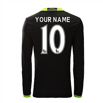 2016-17 Chelsea Away Long Sleeve Shirt (Your Name)