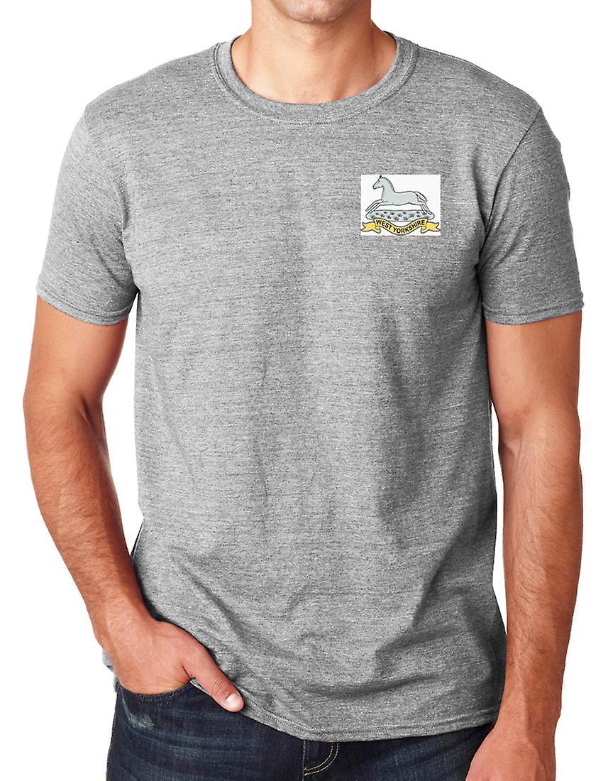 West Yorkshire regementet broderad Logo - officiella brittiska armén ringspunnen T Shirt
