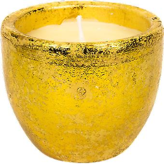 St Eval Candle Orange & Cinnamon Gold Tuscan Pot