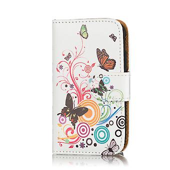 Design Book Leather Case Cover For Samsung Galaxy Mega i9200 - Colour Butterfly