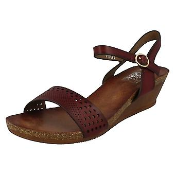 Ladies Down To Earth Wedged Summer Sandals F10698