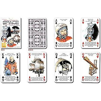History of Transport - Space exploration set of 52 playing cards (+ jokers)    (hpc)