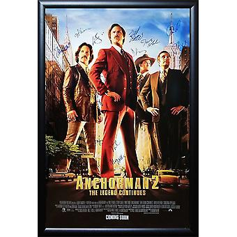 Anchorman 2 - undertecknat filmaffisch