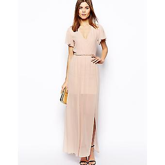 ASOS Maxi Dress With Ruffle Sleeve UK 4