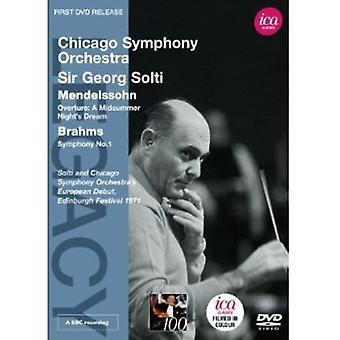 Mendelssohn/Brahms - Legacy: Solti Chicago Symphony Orchestra [DVD] USA import