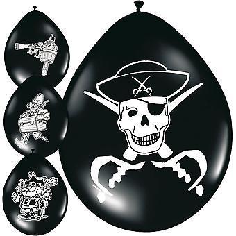 Pirat partiet ballonger ballong barna partiet 8 stykke barns fødselsdag