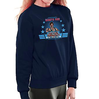 Captain Freedoms Workout Running Man Women's Sweatshirt