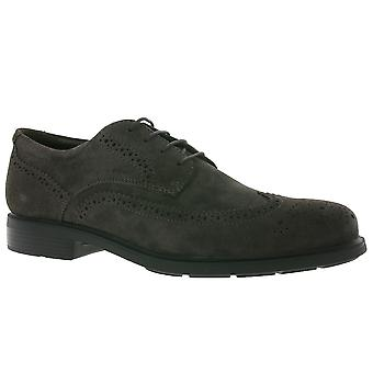 GEOX U Dublin B men's genuine leather shoes Brown