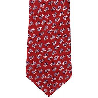 Michelsons of London Scatter Floral Silk Tie - Red/Blue