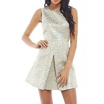 AX Paris Metallic Split Front Dress