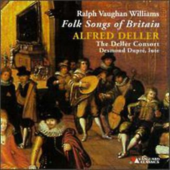 R. Vaughan Williams - Ralph Vaughan Williams: folkesange af Storbritannien [CD] USA import