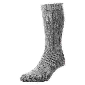 HJ Hall Herre varm akryl Actifresh desinficeret seng sokker med glat tå søm