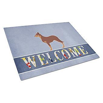 Australsk Kelpie hunden velkommen Glass skjærebrett store