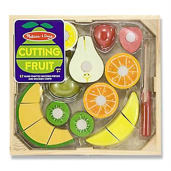 Melissa & Doug Wooden Play Food Cutting Fruit Set 3+ Toy