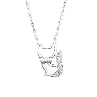 Katze - jeweled 925 Sterling Silber Ketten - W32078x