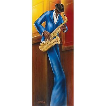 Magrini Jazz ich Sax-Poster-Plakat-Druck