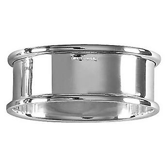 Orton West Plain Oval Napkin Ring - Silver