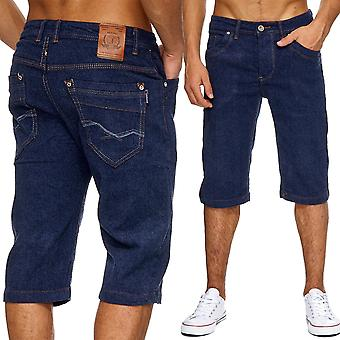 Men's jeans shorts classic men's shorts washed out summer Capri pants