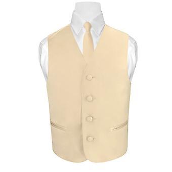 BOY'S Dress Vest & NeckTie Solid Neck Tie Set