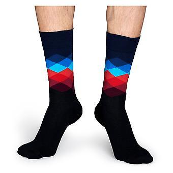Happy Socks falmede Diamond sokker - sort