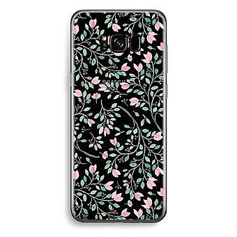 Samsung Galaxy S8 gjennomsiktig sak (myk) - delikat blomster