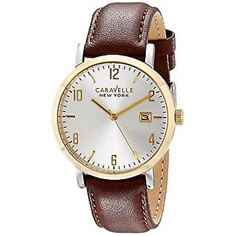 Caravelle New York mænds 44B108 Analog skærm Analog Quartz Brown ur