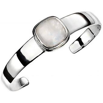 Beginnings Moonstone Bangle - Silver/Rainbow