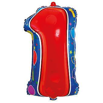 Folia balon numer 1 urodziny rocznica Sylwestra nowy rok balony około 56 cm