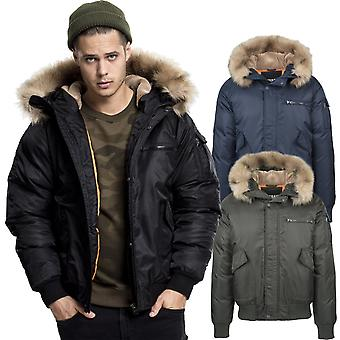 Urban classics - hooded coat heavy bomber pilot winter jacket