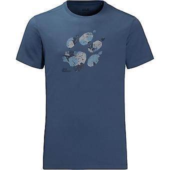 Jack Wolfskin Mens Marble Paw Lightweight Cotton Short Sleeve T-Shirt
