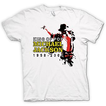Nova t-shirt Mens - Michael Jackson rei do Pop-