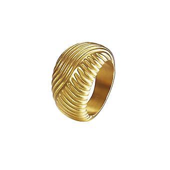 Ondas de Joop mujer anillo acero inoxidable plata oro JPRG10609B