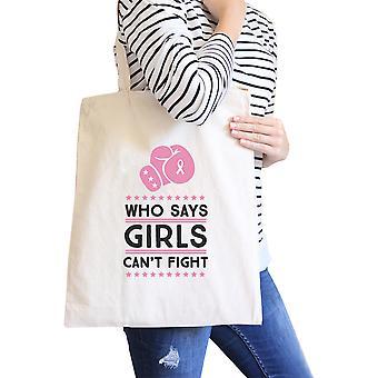 Hvem sier at jenter ikke kan kjempe grafisk lerret Tote øko-Bag